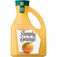 Simply Orange 100% Juice, Orange, Pure Squeezed, Pulp Free