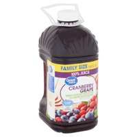 Great Value Cranberry Grape 100% Juice Family Size, 128 fl oz