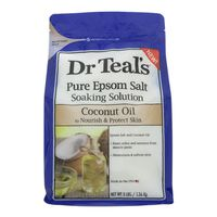 Dr. Teal's Soaking Solution, Pure Epsom Salt, Coconut Oil