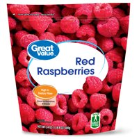 Great Value Whole Red Raspberries, 24 oz