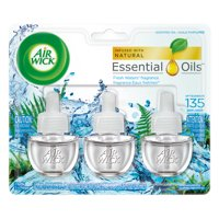Air Wick Scented Oil 3 Refills, Fresh Waters, (3X0.67oz), Air Freshener