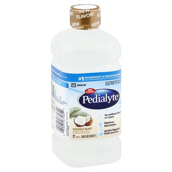 Pedialyte Electrolyte Solution Coconut Burst Ready-to-Drink Bottle