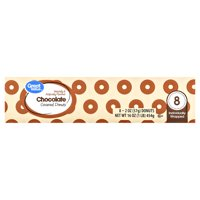 Great Value Chocolate Covered Donuts, 2 oz, 8 count