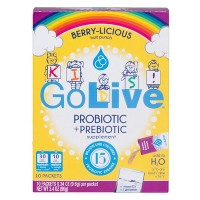 GoLive Probiotic+ Prebiotic Packets Kids - Fruit Punch - 10ct
