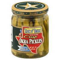 Talk O Texas Okra Pickles, Crisp, Mild