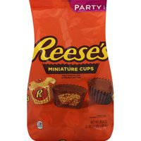 Reese's Milk Chocolate & Peanut Butter, Miniature Cups, Party Pack
