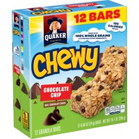 Quaker Chewy Granola Bars, Chocolate Chip (12 Pack)