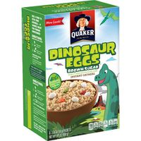 Quaker Instant Oatmeal Dinosaur Eggs Brown Sugar