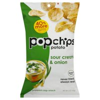 Popchips Gluten-Free Sour Cream & Onion Popped Chip Snack, 5 Oz.