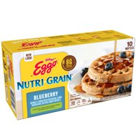 Kellogg's Eggo Nutri-Grain Frozen Blueberry Waffles Breakfast 10 ct
