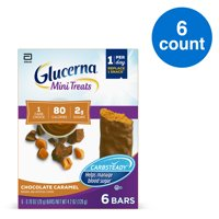 Glucerna Mini Treats, 6 Count, for People with Diabetes to Help Manage Blood Sugar, with CARBSTEADY and Essential Vitamins & Minerals, 80 Calories, Chocolate Caramel, 0.70 oz
