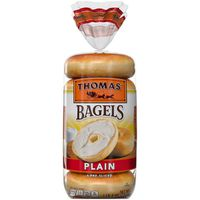 Thomas Plain Soft & Chewy Pre-Sliced Bagels