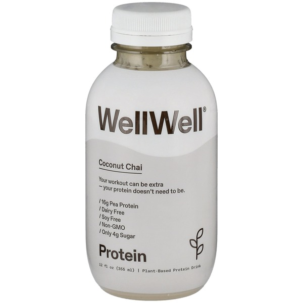 WellWell Protein Drink, Plant-Based, Dairy Free, Coconut Chai