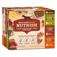 (6 Pack) Rachael Ray Nutrish Natural Wet Dog Food Variety Pack, 8 oz tubs