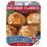 Dockside Classics Crab Cakes, with Real & Imitation Crab and Fish Flakes, Premium, Tray