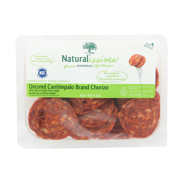 Naturalissima Uncured Cantimpalo Brand Chorizo, 6 oz
