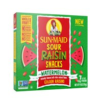 Sun-Maid Sour Raisin Snacks, Watermelon, 7 ct, 0.7 oz