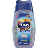 TUMS Smoothies Assorted Fruit Extra Strength Antacid Chewable Tablets for Heartburn Relief, 140 Tablets
