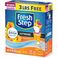Fresh Step Scented Litter With The Power Of Febreze, Clumping Cat Litter - Hawaiian Aloha, 28 Pounds