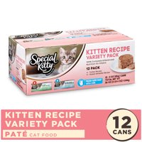 (12 Pack) Special Kitty Kitten Recipe Variety Pack, Turkey and Ocean White Fish, 3 oz. Cans