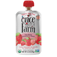 Once Upon a Farm Organic Sun Shiny Strawberry Patch Baby Food, Stage 3, 3.2 oz