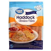 Great Value Wild Caught Haddock Skinless Fillets, 24 oz