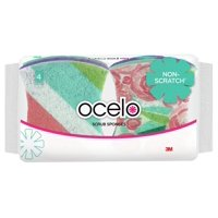 Ocelo Non-Scratch Antimicrobial Handy Sponge, 4 Count