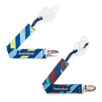 BooginHead 2-pack PaciGrip Pacifier Clip Pacifier Holder - Preppy Ties