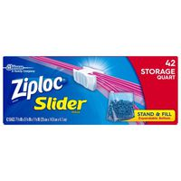 Ziploc Slider Storage Bags Quart