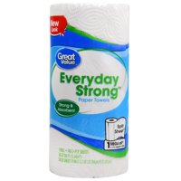 Great Value Paper Towels, Split Sheets, 1 Mega Roll