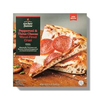 Pepperoni & Three Cheese Frozen Wood-Fired Crust Pizza - 18.5oz - Archer Farms™