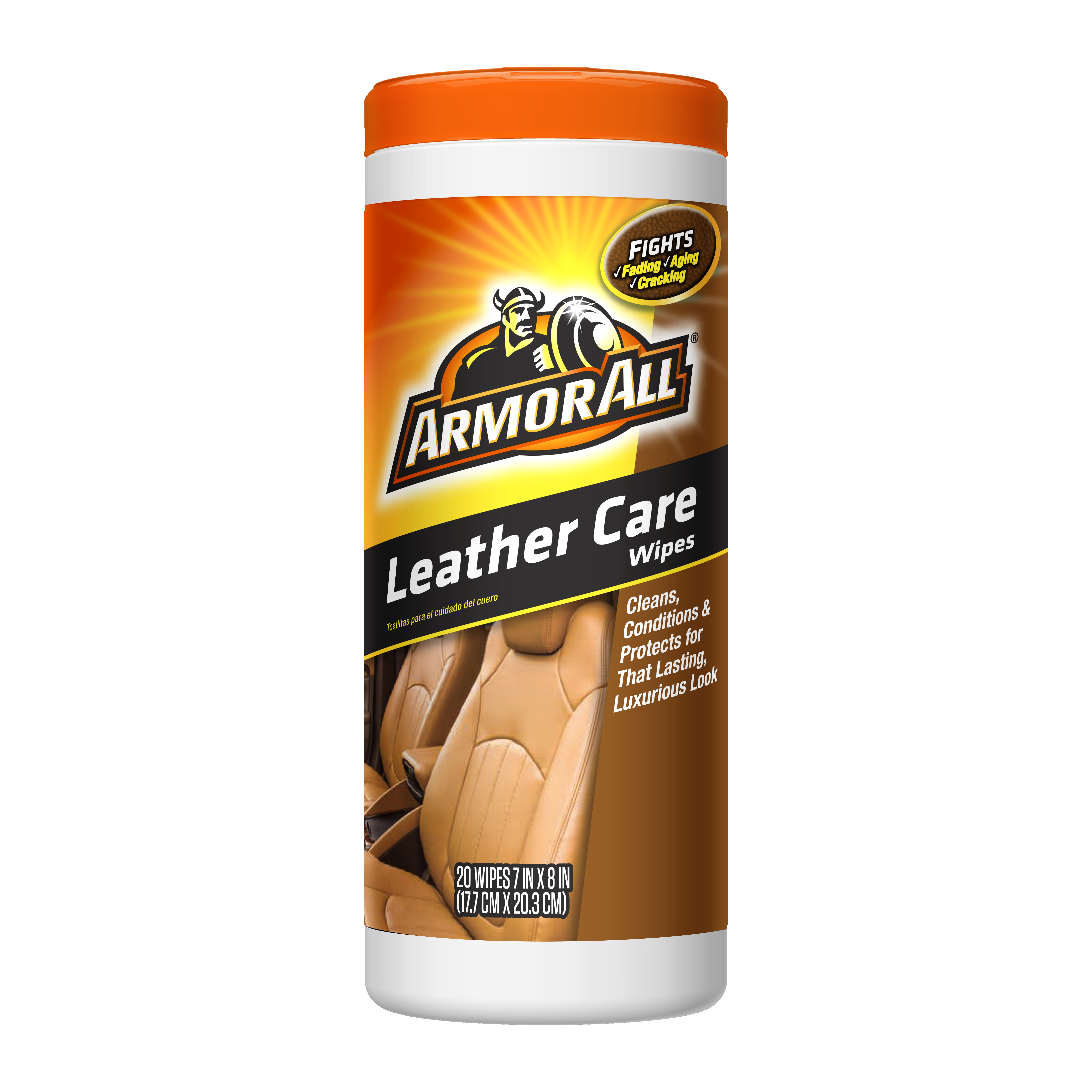 Armor All Leather Wipes - Cleans, Conditions & Protects (30 count)