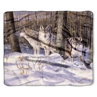 "American Heritage, ""Silent Trackers"" Throw Blanket, 50""x 60"""