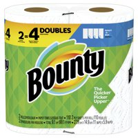 Bounty Select-A-Size Paper Towels, White, 2 Double Rolls = 4 Regular Rolls