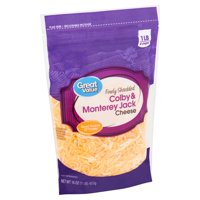 Great Value Finely Shredded Colby & Monterey Jack Cheese, 16 oz