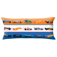 "Hot Wheels Body Pillow Cover with Zipper, Kids Bedding, 20""x54"""