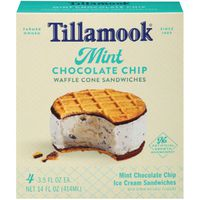 Tillamook Mint Chocolate Chip Waffle Cone Ice Cream Sandwiches