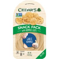Cedar Hommus, Garlic Lovers, with Hommus Chips, Snack Pack