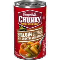 Campbell's Chunky Soup, Sirloin Burger With Country Vegetables Soup, 18.8 Ounce Can
