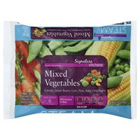 Signature Select Mixed Vegetables Diced Carrots, Yellow Corn, Cut Green Beans, Green Peas