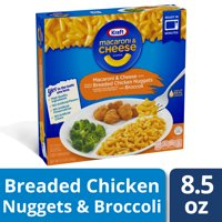 Kraft Macaroni and Cheese Dinner With Breaded Chicken Nuggets and Broccoli, 8.5 oz Box