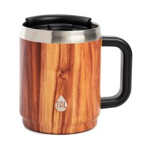 Tal Boulder Vacuum Insulated Travel Mug, 14 oz, Wood