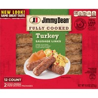 Jimmy Dean Fully Cooked Turkey Sausage Links - 12ct/9.6oz