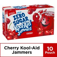 Kool-Aid Jammers Zero Sugar Cherry Flavored Drink, 10 ct - Pouches, 60.0 fl oz Box