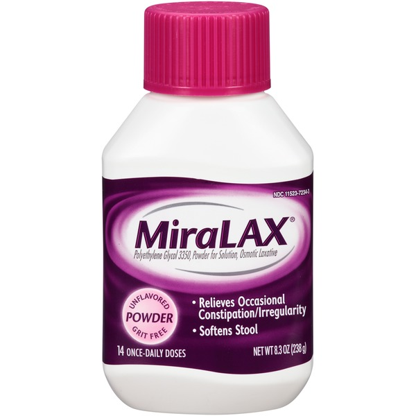 MiraLAX Unflavored/Grit Free Powder Laxative