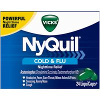 V NyQuil Cough, Cold & Flu Nighttime Relief