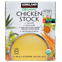 Kirkland Signature Organic Chicken Stock, 6 x 946 ml