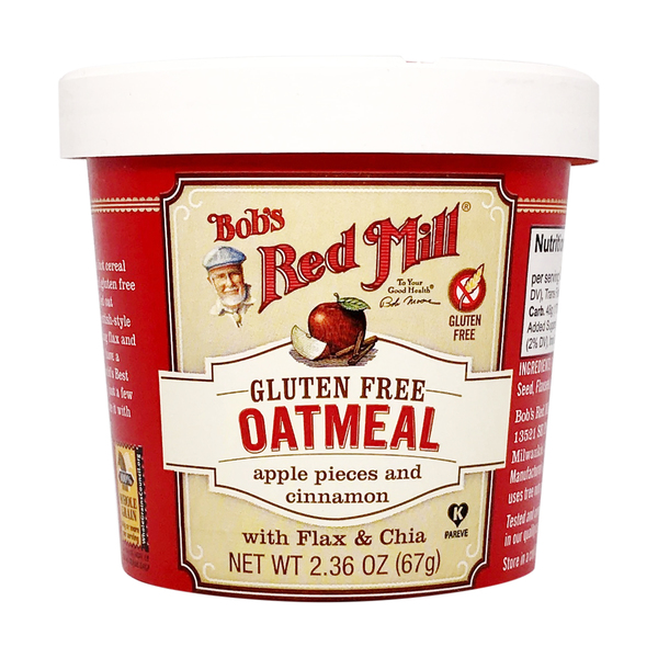Bob's red mill Apple Pieces And Cinnamon Gluten Free Oatmeal Cup, 2.36 oz