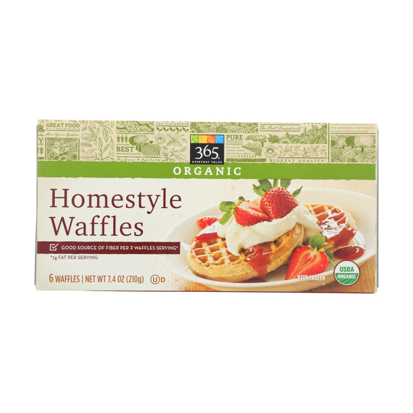 365 everyday value® Waffles, Homestyle, 6 Each