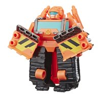 Playskool Heroes Transformers Rescue Bots Academy Wedge the Construction-Bot Converting To